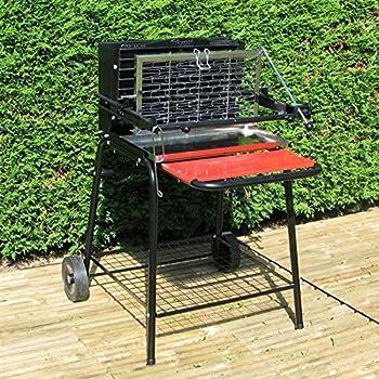barbecue vertical au charbon de bois sunny jardin. Black Bedroom Furniture Sets. Home Design Ideas