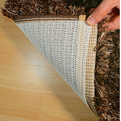 HAFTPLUS Teppichunterlage Antirutschmatte Teppich-Stopper haftet ohne zu kleben, Rutschschutz geeignet für alle glatten Böden, Gleitschutz Teppichunterleger Haftgitter Struktur, rutschfest und zuschneidbar, Anti-Rutsch-Unterlage, Maße: 200 x 100 cm