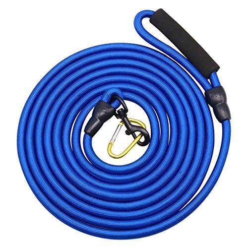 AUTULET 1/2 Zoll breite robuste Hund Schnur Leine Leinen 16 Fuß Königsblau Nylon 66 für den Einsatz im Freien für extra große Hunde -