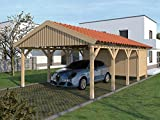 Carport (Satteldach) Monaco XIV 500cm x 800cm, mit Geräteraum