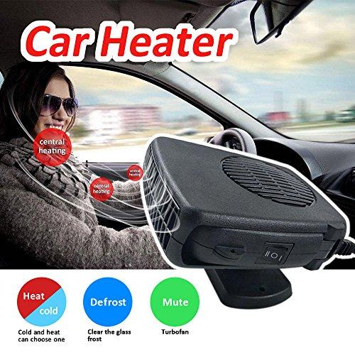 1 De-icer (KKmoon 12 V 150 Watt Car Interior Heating Auto Heizung Auto Windschutzscheibe Defroster Demister 2 in 1 Heizung Lüfter)