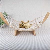 JYSPORT gato hamaca de madera colgante gato Suspensión nido cama mascota suministros juguetes …