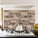 kina Misure: 70x50 cm - PR00023 Pannello paraschizzi Retro Piano Cottura in Plexiglass - Stampa in altissima risoluzione Resistente al Calore Paraschizzi Buon Appetito