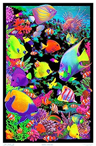 Opticz Living Reef Blacklight Poster by Opticz