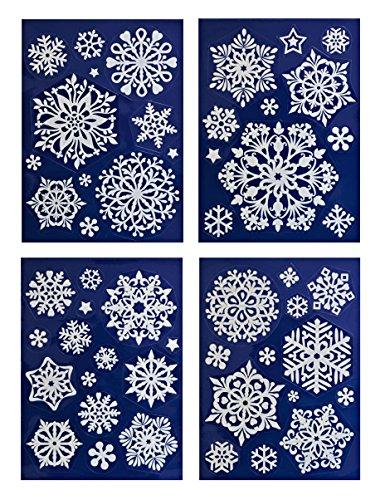 * 50 weihnachtliche, winterliche Fensterbilder Weihnachtsdeko Fensterdekoration wiederverwendbar!!