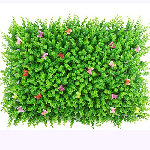 SUNNAIYUAN Künstliche Heckenplatten, Buchsbaum-Grün-Efeu-Privatleben-Zaun, Hausgarten-im Freienwand-Dekoration (24pack) (Size : 24pack) -