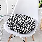 OQNnkenrkwws Cuscini sedie,Testa a testa imbottita sedia cuscino pavimento rotondo alleviare miscela di indietro sciatica ufficio computer sedia cuscino alto-elastico microfibra-QB 45x45cm(18x18inch)