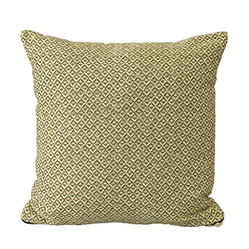 Time Concept Enrich Wave Polycotton Kissen - 45,7 x 45,7 cm - Überwurf Couch-Kissen, Dekokissen, Sofa Kopfstütze, Home Decor Yellow - 18