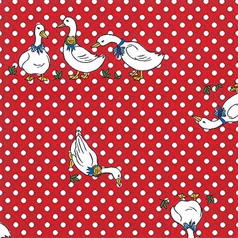 Nappe toile cirée PVC Rectangulaire 140 x 200 cm à pois Rouge