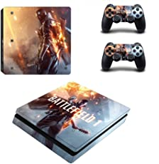 Elton Battle Field 1 Theme 3M Skin Sticker Cover for PS4 Slim Console and Controllers