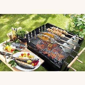 stockfisch steckerlfisch grillaufsatz fisch grillen leicht gemacht auch f r stockbrot oder. Black Bedroom Furniture Sets. Home Design Ideas