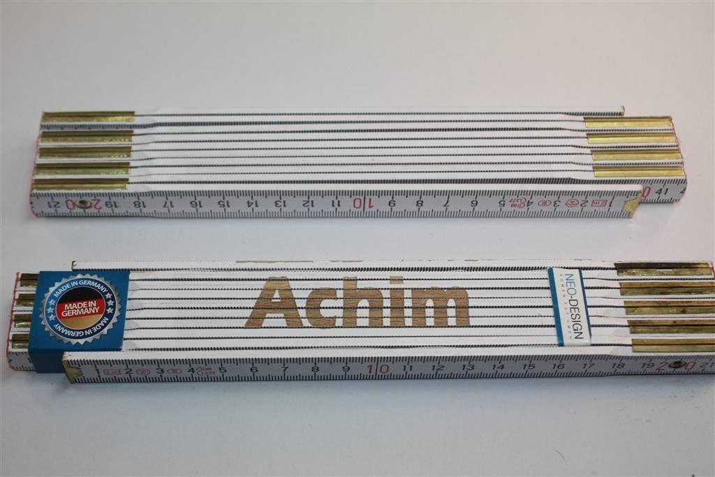 Zollstock mit Namen ACHIM Lasergravur 1