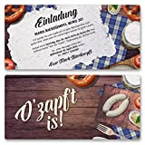 (40 x) Einladungskarten Geburtstag Oktoberfest Hüttengaudi Wiesn Einladungen