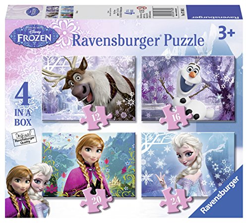 Ravensburger - Disney Die Eiskönigin – Völlig unverfroren 4 in 1 Puzzle-Set (Sortimentsartikel) [UK Import]