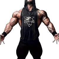 Cabeen Men's Gym Tank Tops Bodybuilding Hoodie Stringer Fitness Sleeveless Vest Shirts