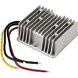 BTF-LIGHTING 50W DC-DC Reductor de Voltaje Impermeable Regulador Buck convertidor 12V/24V a 5V 10A para Carro de Golf Audio F