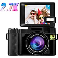 Digital Camera Vlogging Camera 2.7K 24MP Full HD Compact Camera for YouTube 3.0 Inch 180…