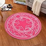 IMON LL TappetiSuperb Kids/Childs Tappeto Girl Sakura Abstract Mordern Rugs Tappeti per Bambini Round Floor,8,100 * 100cm