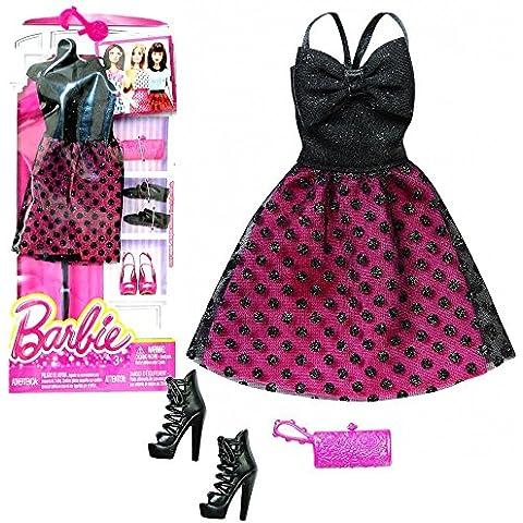 Barbie - Tendencia de la Moda para la Ropa de la Muñeca Barbie - Vestido de Noche Burdeos Negro