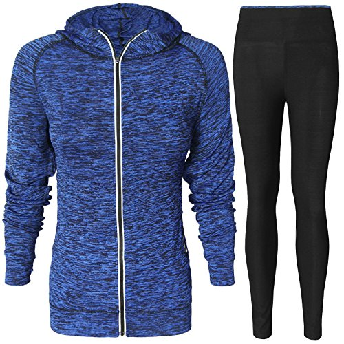 NEW WOMENS LADIES 2PCS HOODED TRACKSUIT WORKOUT JOGGING RUNNING HOODIE TOP JACKET SIDE PANEL LEGGING TROUSERS BOTTOMS YOGA GYM FITNESS SPORTS Test