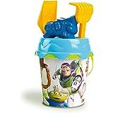 Simba- Toy Story Seau de Plage avec Pelle, râteau, Moule et Tamis 17 cm, 862105, Multicolore