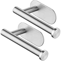 2PCS Toilet Roll Holder Self Adhesive 3M Stainless Steel Toilet Paper Holder No Drilling Required Toilet Rolls Holders…