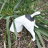 Halber Hund grabend, Jack Russel Terrier Deko Figur Garten