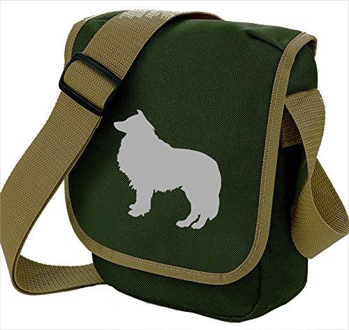 Bag Pixie - Borsa a tracolla unisex adulti Grey Dog on Olive