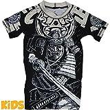 Kids Rashguard Hardcore Training Budo Grey-6 years T-Shirt de compression Enfants Garçon