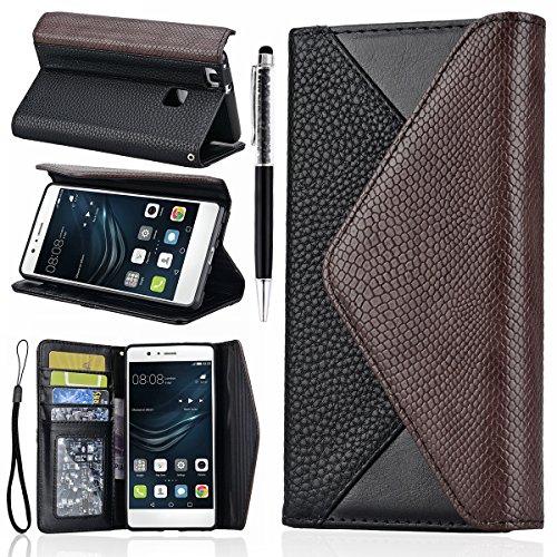 GrandEver Custodia in Pelle per Huawei P9 LITE, Busta PU