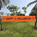 Maplelon Extra Large Halloween Banner | Large Happy Halloween Sign Decoration …