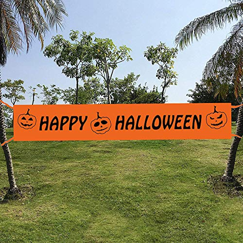Maplelon Extra Large Halloween Banner   Large Happy Halloween Sign Decoration …