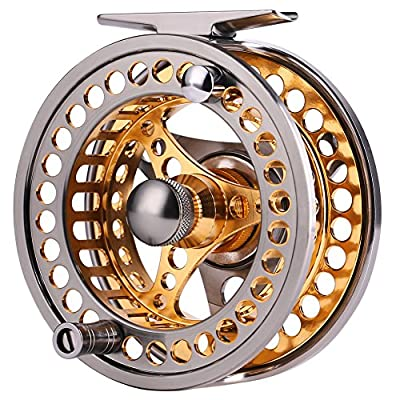 Sougayilang Fly Fishing Reel Large Arbor 2+1 BB with CNC-machined Aluminum Alloy Body and Spool in Fly Reel Sizes 5/6,7/8 from Sougayilang