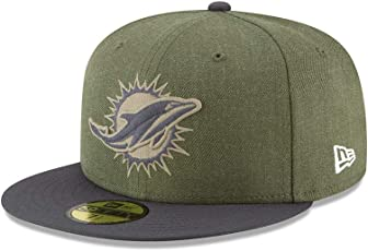 New Era Miami Dolphins 59fifty Basecap On Field 2018 Salute to Service