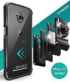 Casewe - Motorola Moto Z3 Play Hülle Bumper Case Schutzhülle/Kompatibel mit Allen Moto Mods - Komplett Matt Schwarz