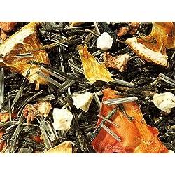 1kg - grüner Tee - Sencha - Orange & Maracuja - aromatisierte Grüntee-Mischung