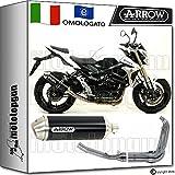 Arrow Auspuff Komplett Hom race-tech Aluminium Dark Suzuki GSR 75020121271776Aon + 71444Ich + 71443Ich