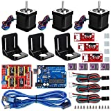Professional 3D printer CNC Kit for arduino, Kuman GRBL CNC Shield+UNO R3 Board+RAMPS 1.4 Mechanical Switch Endstop+DRV8825 A4988 Stepper Motor Driver with heat sink+Nema 17 Stepper Motor KB02