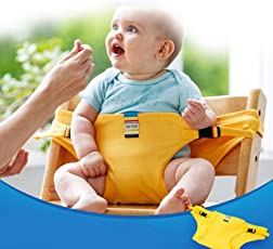 Babies Bloom Yellow Baby Travel High Chair Booster Safety Seat Strap/Harness Belt for Toddler Feeding (Suitable for 10 Months to 3 Years of Baby/Kid)