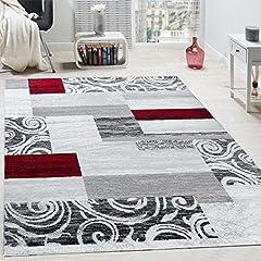 Idea Regalo - Tappeto Di Design Per Salotto Arredamento Interno Tappeto Mélange Rosso Grigio, Dimensione:160x220 cm