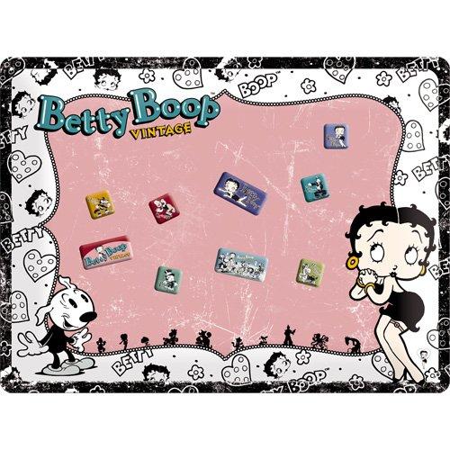Nostalgic-Art 25009 Betty Boop Vintage Magnettafel, 30 x 40 cm inklusive 9 Magneten -