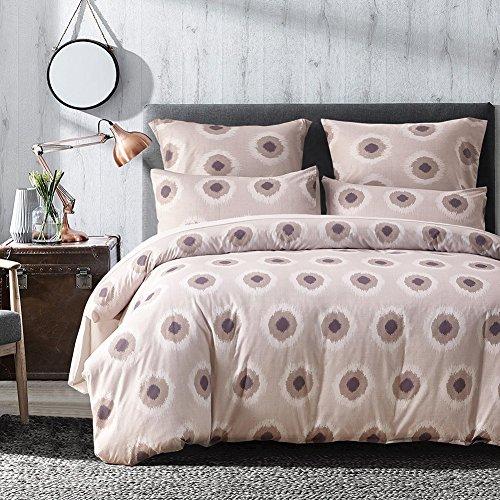 FORCHEER leicht Mikrofaser Bettbezug Set, Floral Print Muster Tagesdecke Überwurf Set, 3 teilig Oversize Quilt Set mit Kissen/Bezügen, Microfaser, Pattern #78333, Einzelbett (Bett-set Komplett Microfaser)