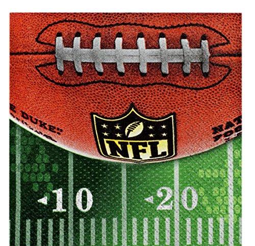 ekoration Servietten - NFL - 16 Stück, 25 x 25cm, Mehrfarbig (Super-bowl-dekoration)