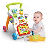 Mixen Baby Walker Learning Walking Trolley Adjustable Speed Musical Walking Training Car Toy with Drawing Board Multifunction