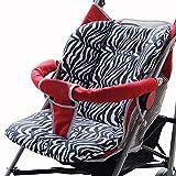 Atmungsaktive Universal Zebra Baby Sitzauflage Babyschaleneinlage für Kinderwagen Buggys, Wasserfest