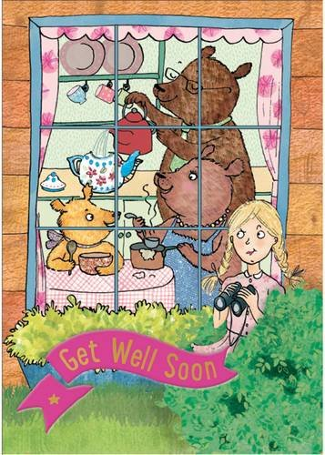 Goldilocks and the Three Bears - Get Well Card-Book (Story Cards)