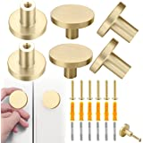 Round Brass Handle, Cabinet Drawer Knobs, 6pcs Solid 25mm Hardware Furniture Cabinet Door Drawer Dressers Handles Knobs with