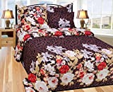 Floral Design Printed Double Bed Sheet Set (230x250 cm) Cotton Fabric best price on Amazon @ Rs. 699