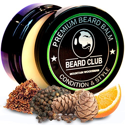 Premium Qualitäts Balsam für den Bart | Mountain Woodsman Natürlich Bartbalsam | Bart Conditioner & Weichmacher, um Ihren Bart zu formen und zu stylen, während Sie Bart Juckreiz & Flakes stoppen - Conditioner Weichmacher
