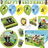 Der Kleine Maulwurf Krtek Little Mole Partyset mit Deko 93tlg. für 16 Kinder Teller Becher Servietten 2 Tischdecken Tüten Einladung Ballons Partykette